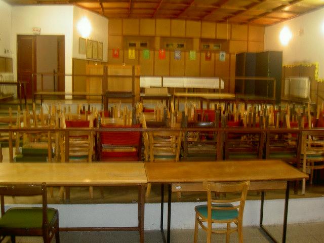 Rekonstrukce kulturního sálu před a po